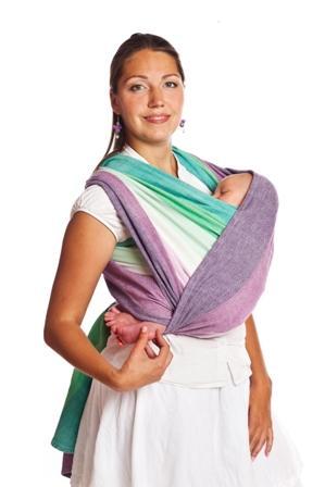 «Колыбелька» в слинге-шарфе: с