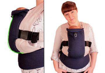 Слингорюкзак для новорожденных рюкзак shimano dp-072g, l silver